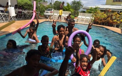Children speak out at Mother's Day Pool Party